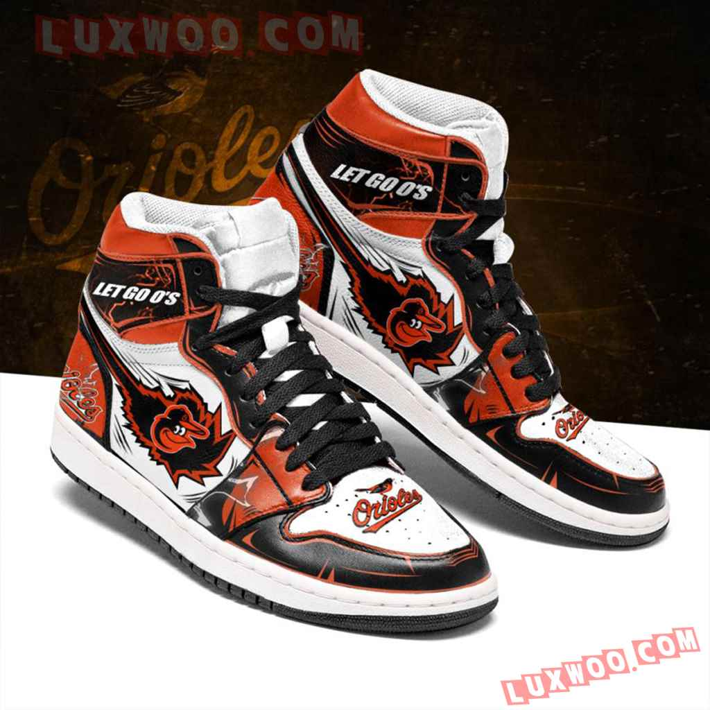 Mlb Baltimore Orioles Air Jordan 1 Custom Shoes Sneaker V1