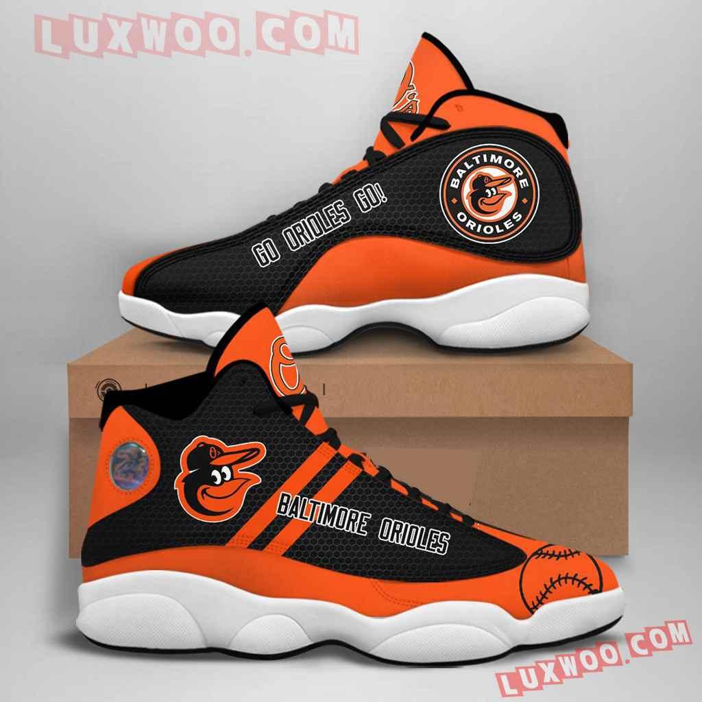 Mlb Baltimore Orioles Air Jordan 13 Custom Shoes Sneaker V1