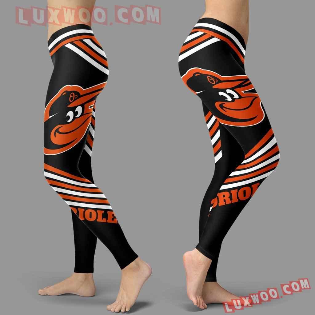Mlb Baltimore Orioles Leggings 3d Custom Print Leggings Sport V2