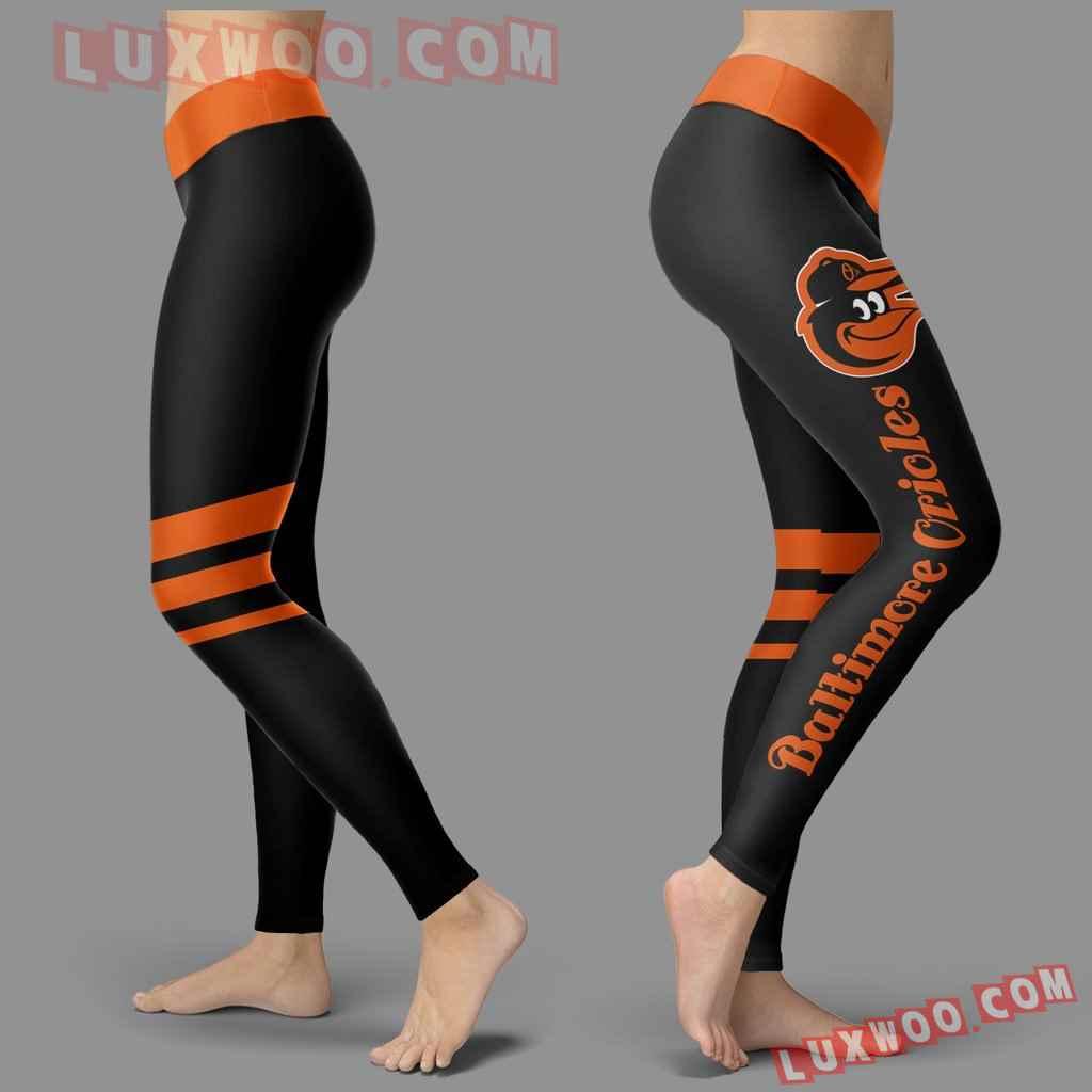Mlb Baltimore Orioles Leggings 3d Custom Print Leggings Sport V3