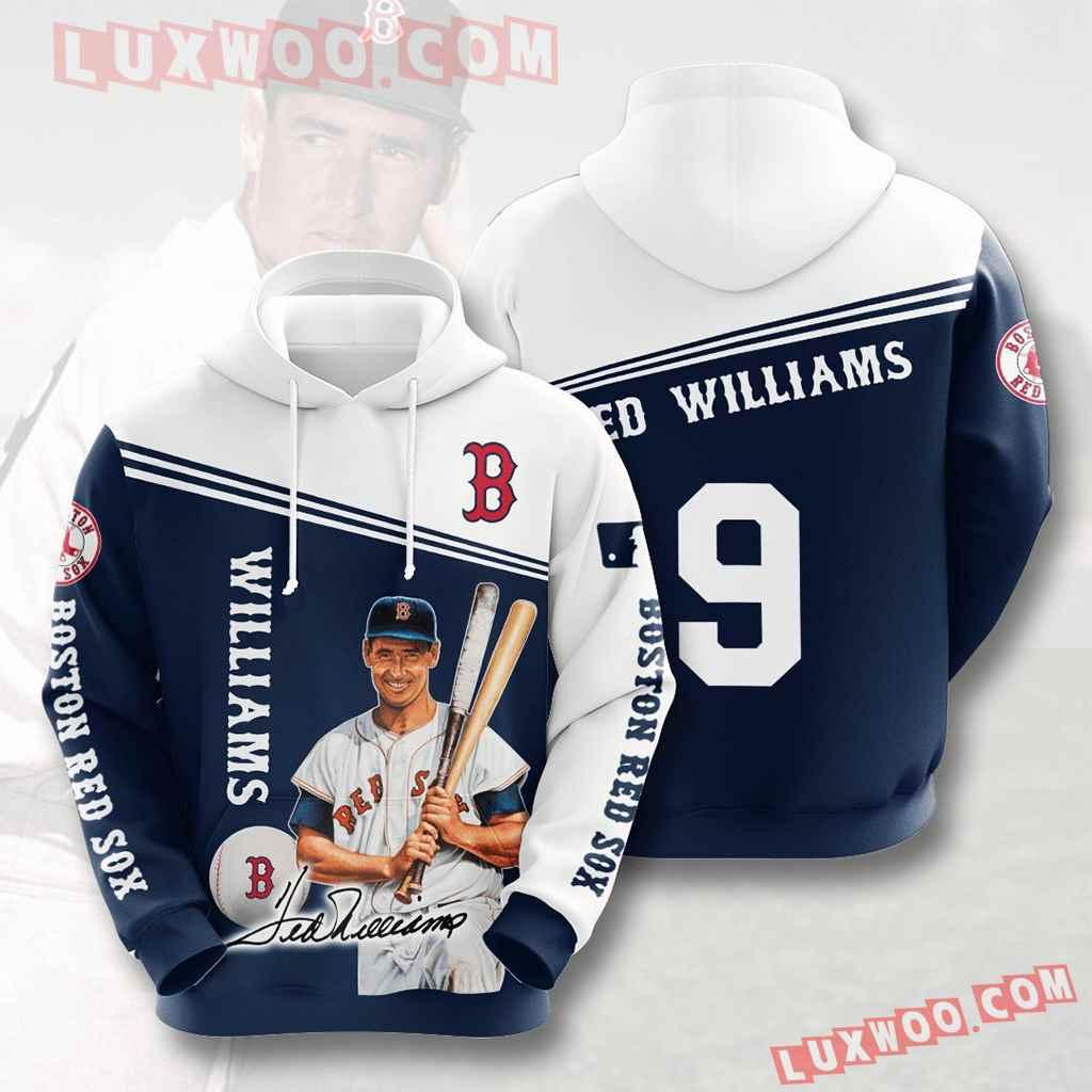 Mlb Boston Red Sox 3d Hoodies Printed Zip Hoodies Sweatshirt Jacket V10