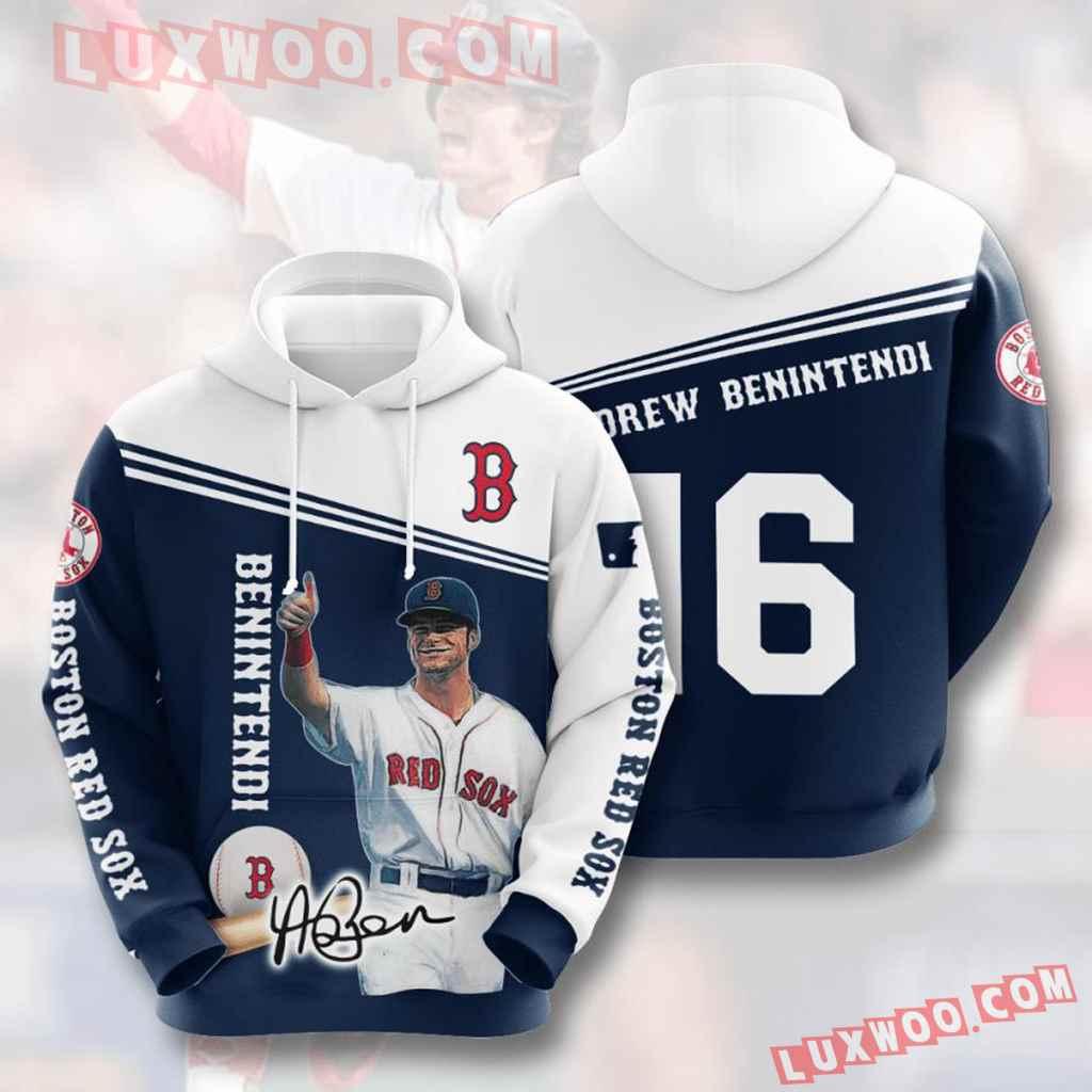 Mlb Boston Red Sox 3d Hoodies Printed Zip Hoodies Sweatshirt Jacket V11
