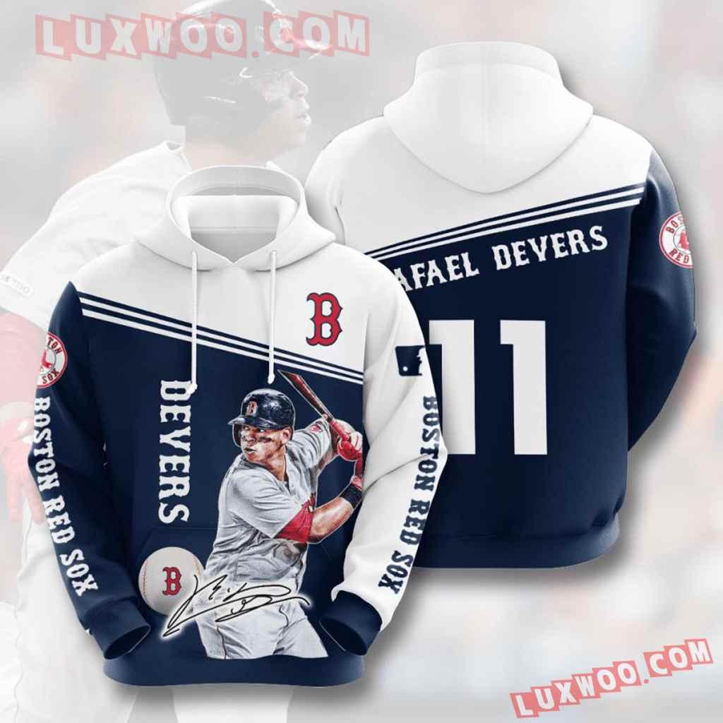 Mlb Boston Red Sox 3d Hoodies Printed Zip Hoodies Sweatshirt Jacket V12