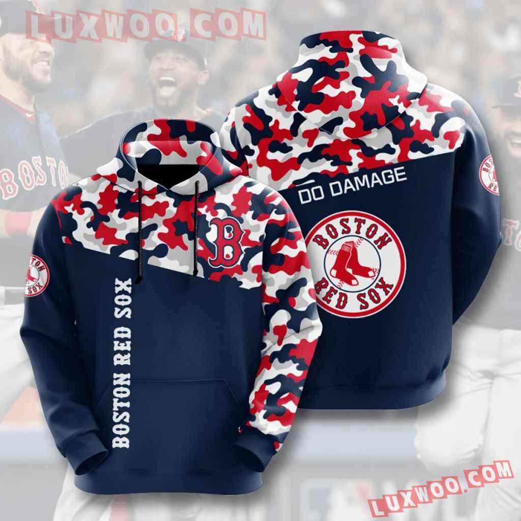 Mlb Boston Red Sox 3d Hoodies Printed Zip Hoodies Sweatshirt Jacket V3