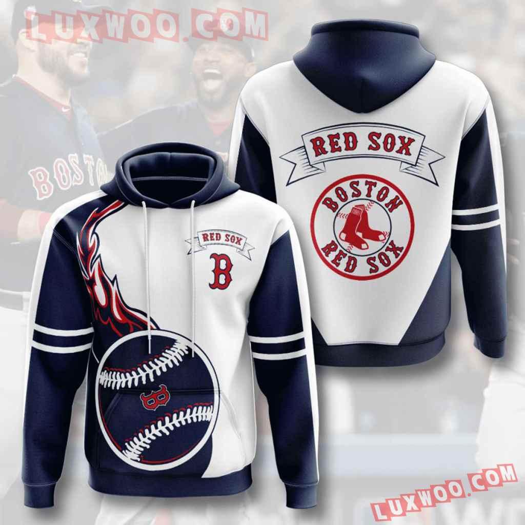 Mlb Boston Red Sox 3d Hoodies Printed Zip Hoodies Sweatshirt Jacket V4