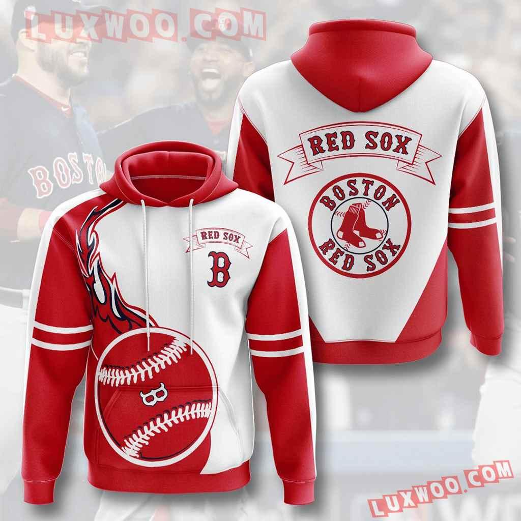Mlb Boston Red Sox 3d Hoodies Printed Zip Hoodies Sweatshirt Jacket V5