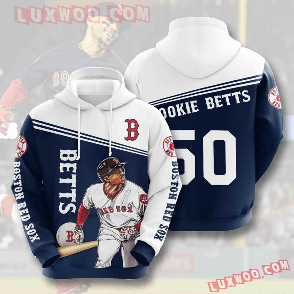 Mlb Boston Red Sox 3d Hoodies Printed Zip Hoodies Sweatshirt Jacket V6