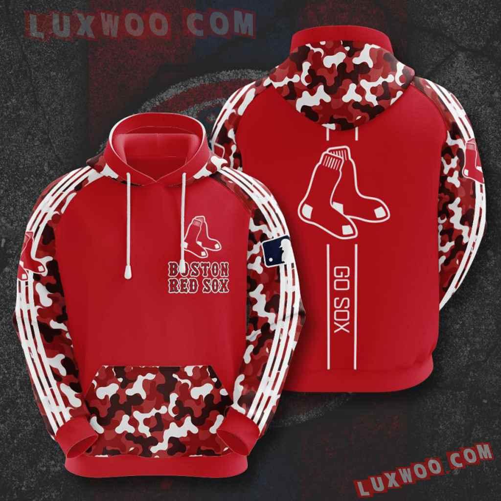 Mlb Boston Red Sox 3d Hoodies Printed Zip Hoodies Sweatshirt Jacket V7