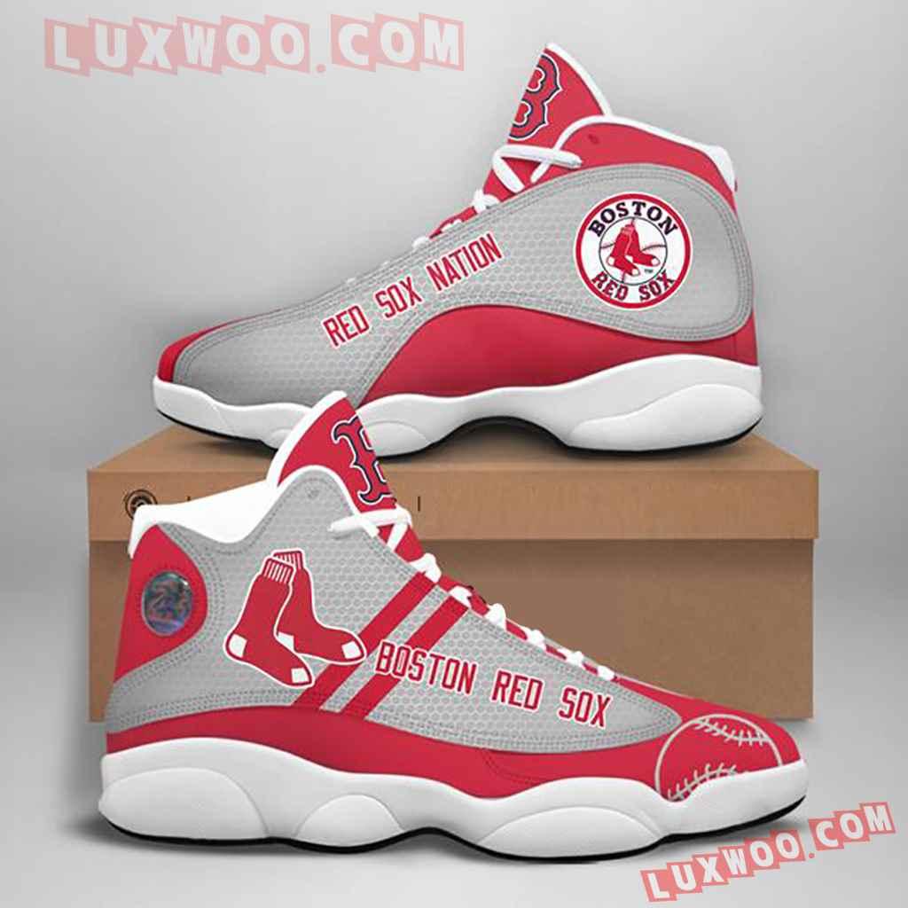 Mlb Boston Red Sox Air Jordan 13 Custom Shoes Sneaker V1