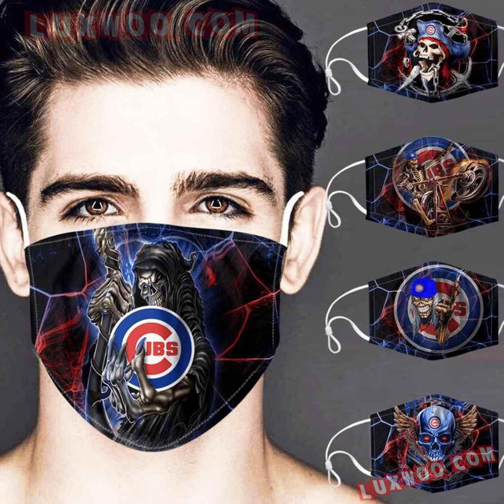 Mlb Chicago Cubs 3d Face Mask Combo 5 V1