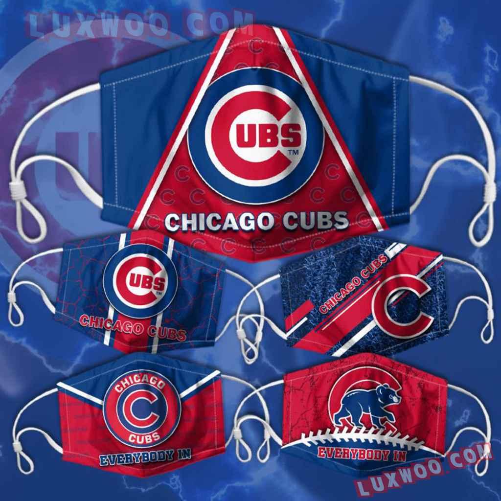 Mlb Chicago Cubs 3d Face Mask Combo 5 V2