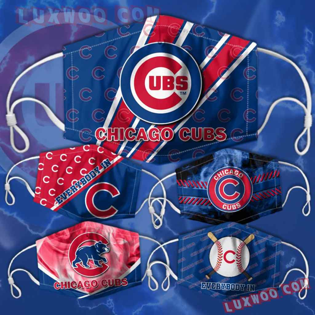Mlb Chicago Cubs 3d Face Mask Combo 5 V3