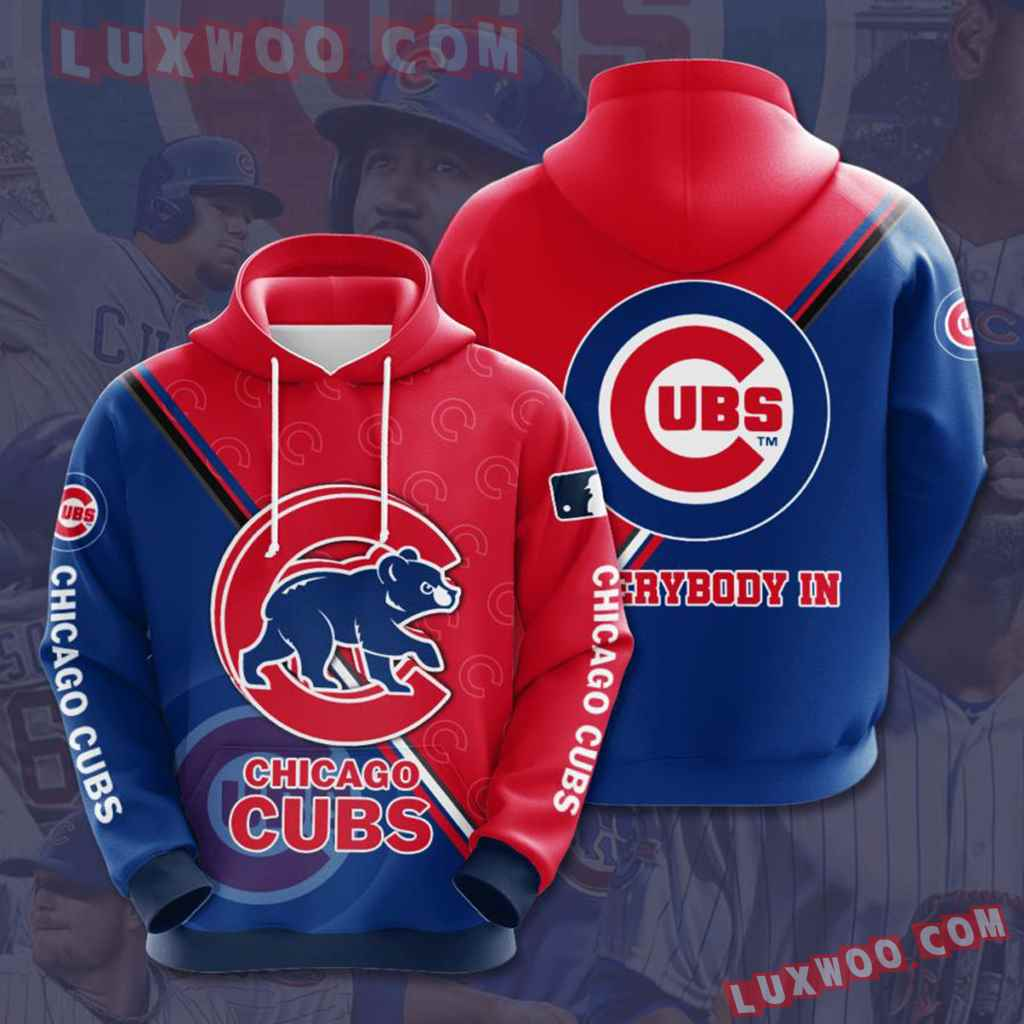 Mlb Chicago Cubs 3d Hoodies Printed Zip Hoodies Sweatshirt Jacket V1
