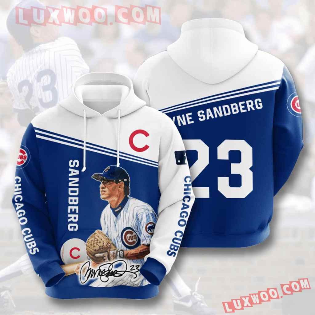 Mlb Chicago Cubs 3d Hoodies Printed Zip Hoodies Sweatshirt Jacket V10