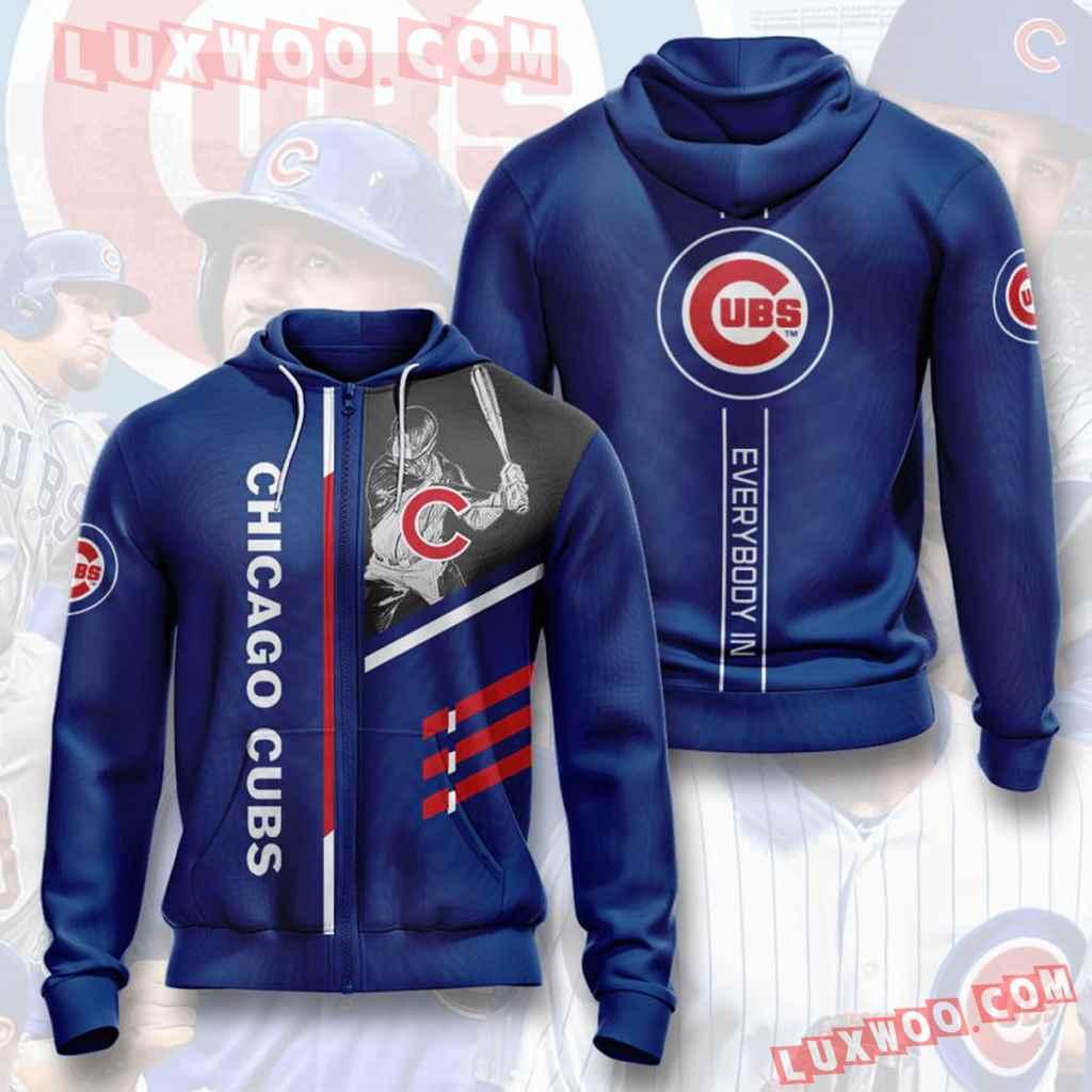 Mlb Chicago Cubs 3d Hoodies Printed Zip Hoodies Sweatshirt Jacket V2