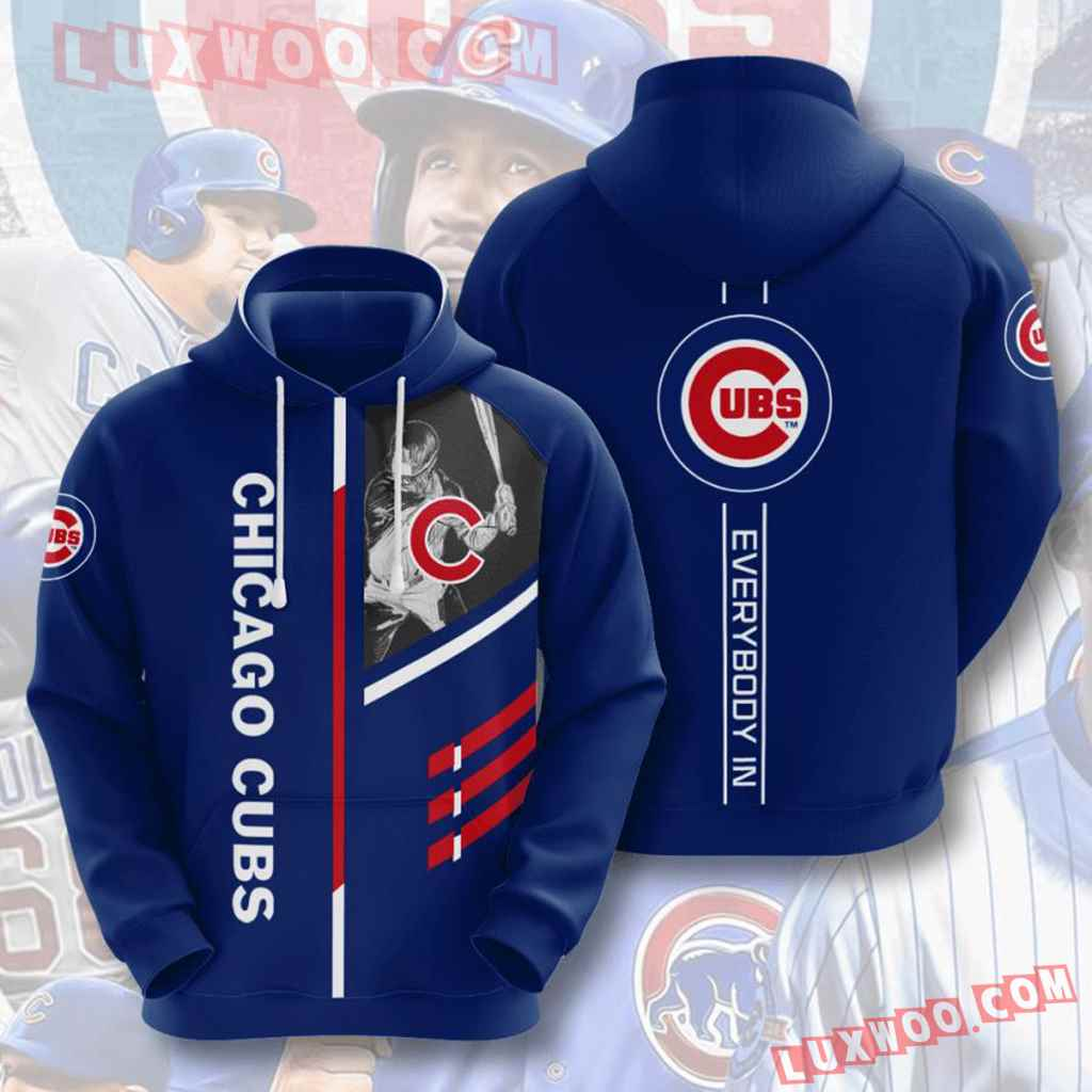 Mlb Chicago Cubs 3d Hoodies Printed Zip Hoodies Sweatshirt Jacket V3