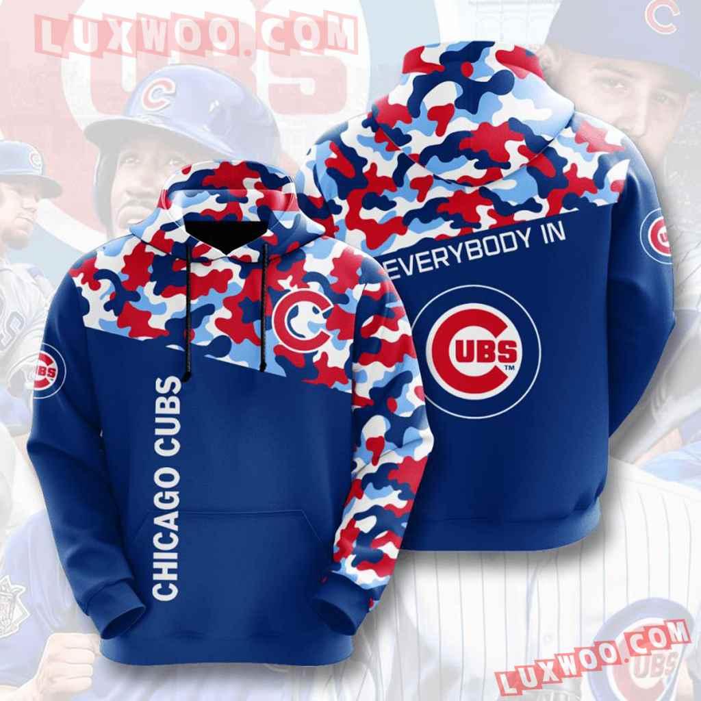 Mlb Chicago Cubs 3d Hoodies Printed Zip Hoodies Sweatshirt Jacket V4