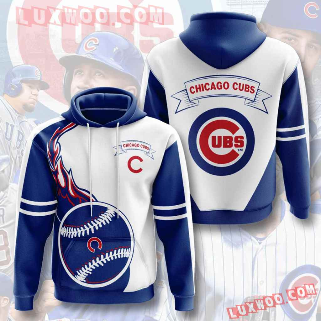 Mlb Chicago Cubs 3d Hoodies Printed Zip Hoodies Sweatshirt Jacket V5