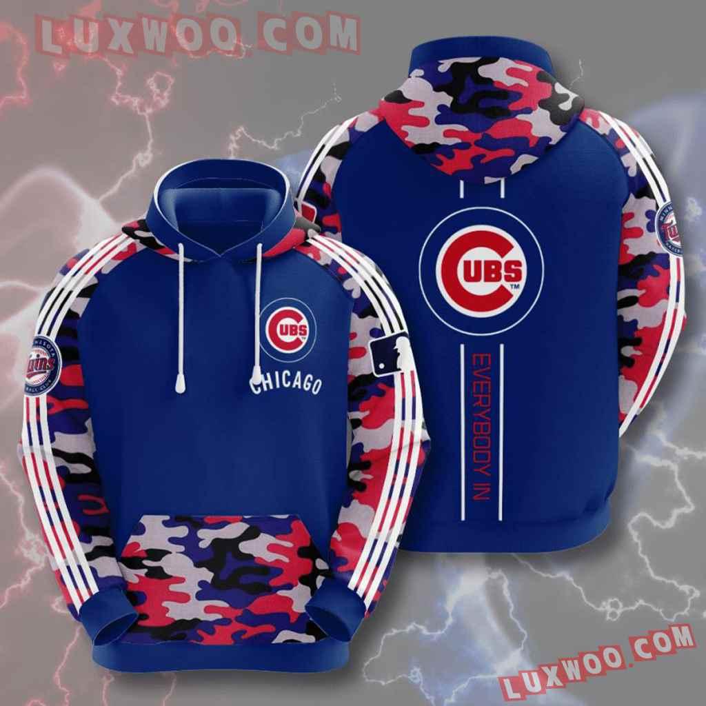 Mlb Chicago Cubs 3d Hoodies Printed Zip Hoodies Sweatshirt Jacket V6