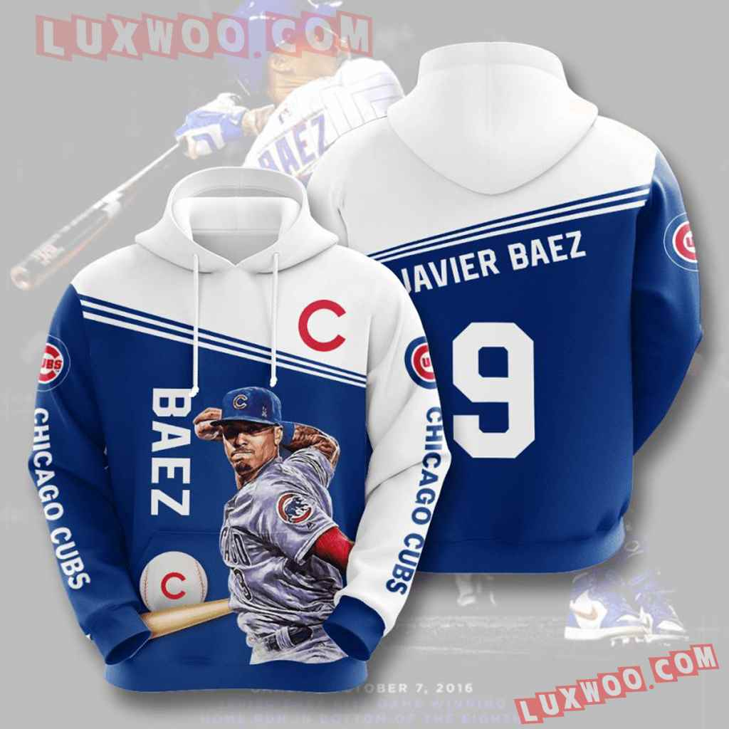 Mlb Chicago Cubs 3d Hoodies Printed Zip Hoodies Sweatshirt Jacket V7