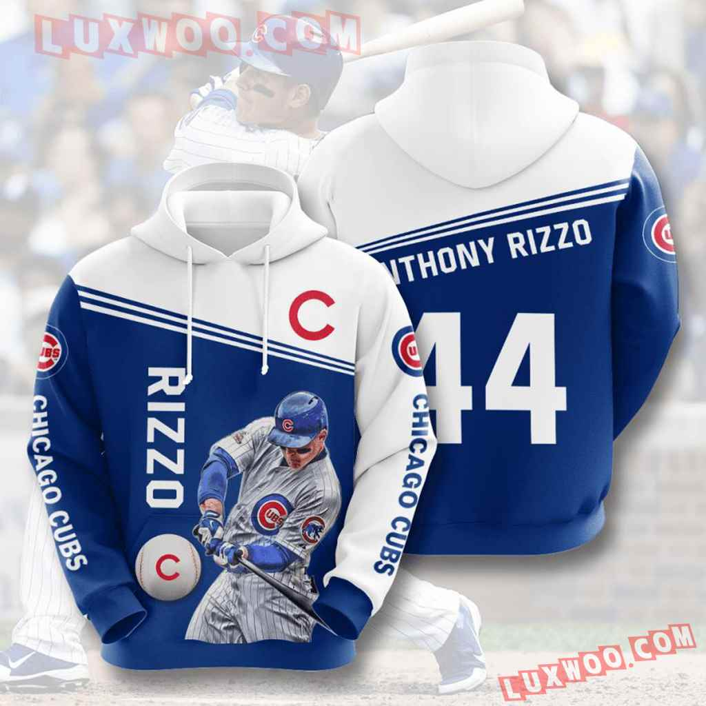 Mlb Chicago Cubs 3d Hoodies Printed Zip Hoodies Sweatshirt Jacket V9