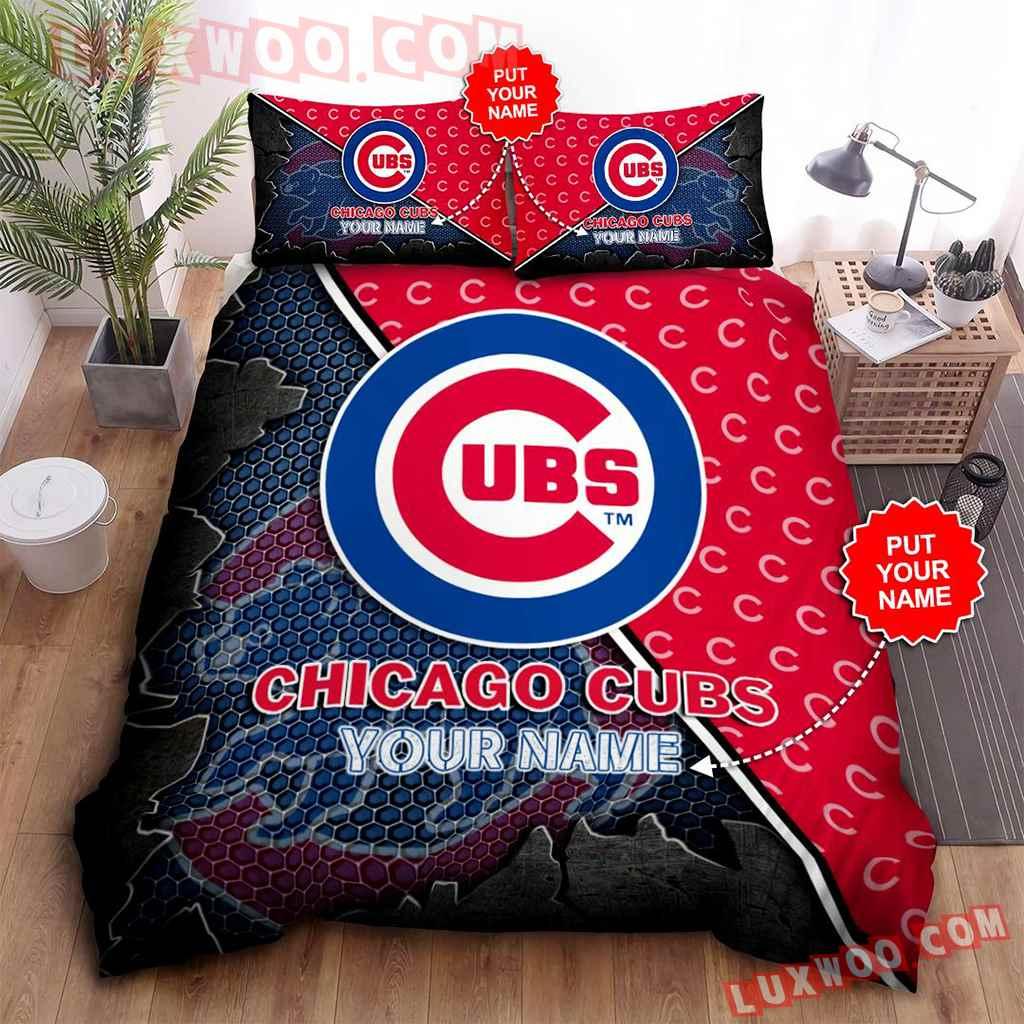 Mlb Chicago Cubs 3d Quilt Bedding Set V1