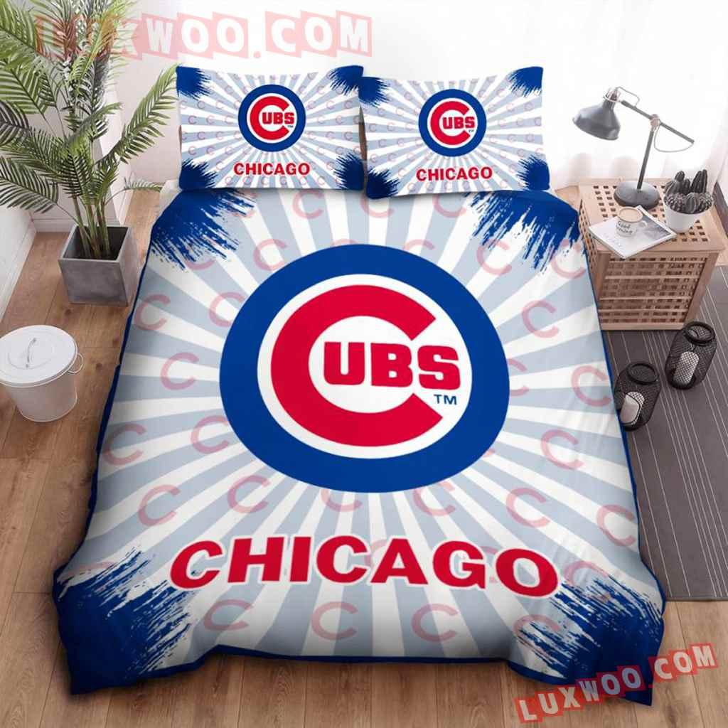 Mlb Chicago Cubs 3d Quilt Bedding Set V3