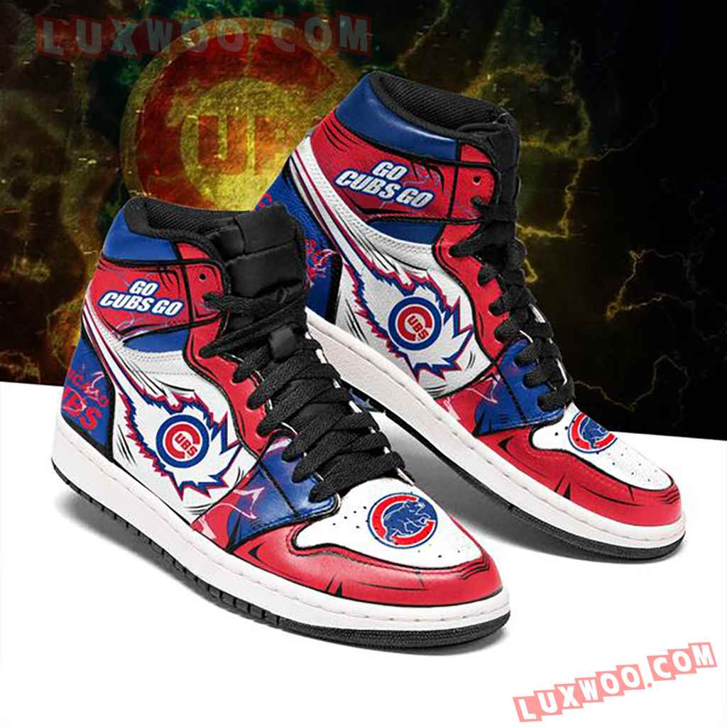 Mlb Chicago Cubs Air Jordan 1 Custom Shoes Sneaker V1
