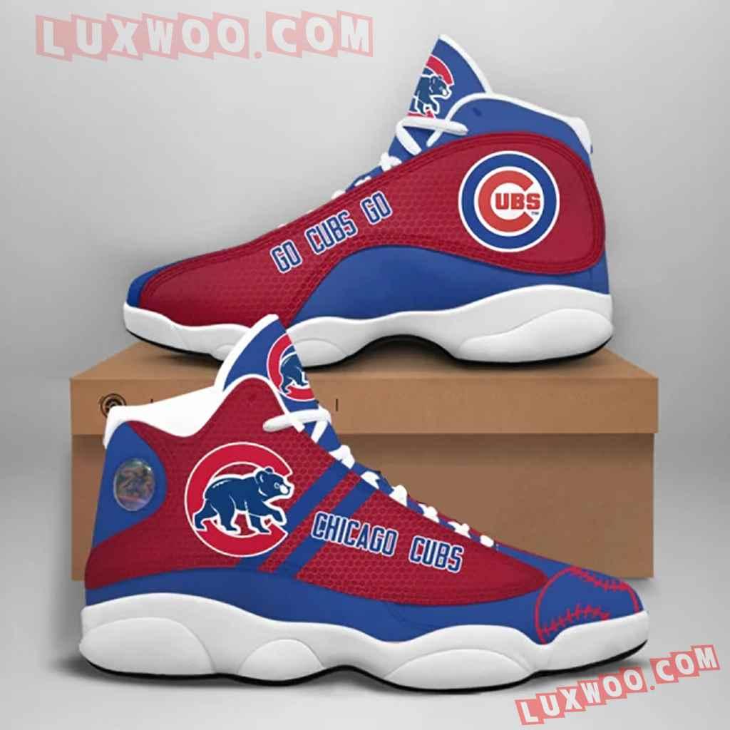 Mlb Chicago Cubs Air Jordan 13 Custom Shoes Sneaker V1