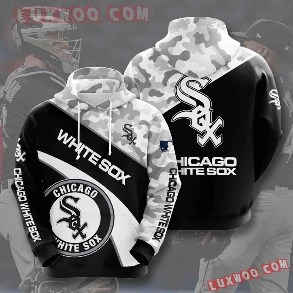 Mlb Chicago White Sox 3d Hoodies Printed Zip Hoodies Sweatshirt Jacket V10