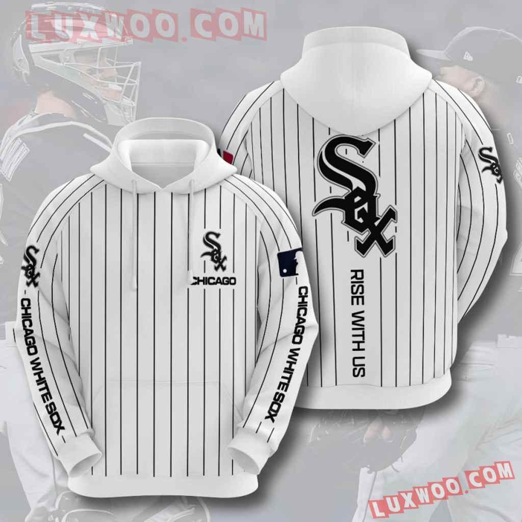 Mlb Chicago White Sox 3d Hoodies Printed Zip Hoodies Sweatshirt Jacket V11