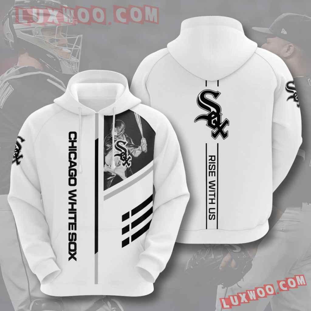 Mlb Chicago White Sox 3d Hoodies Printed Zip Hoodies Sweatshirt Jacket V2