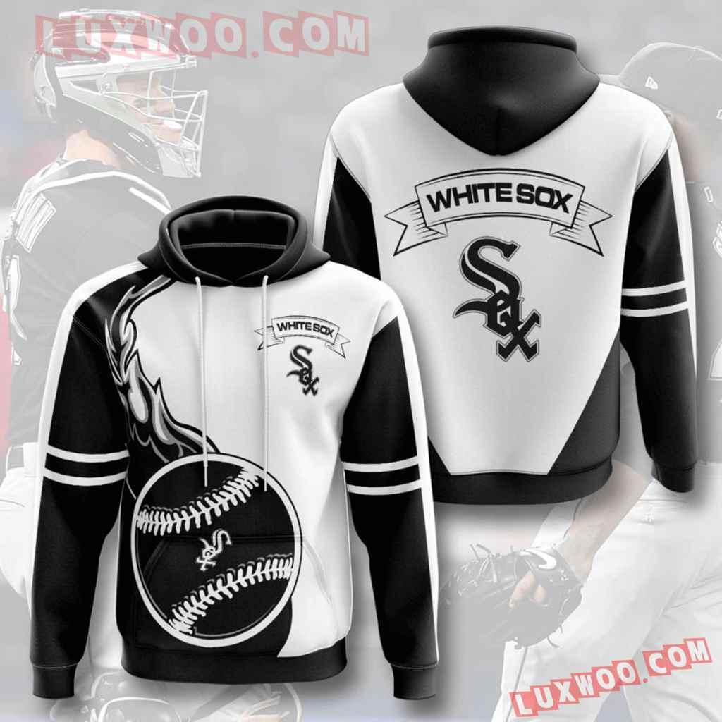 Mlb Chicago White Sox 3d Hoodies Printed Zip Hoodies Sweatshirt Jacket V3