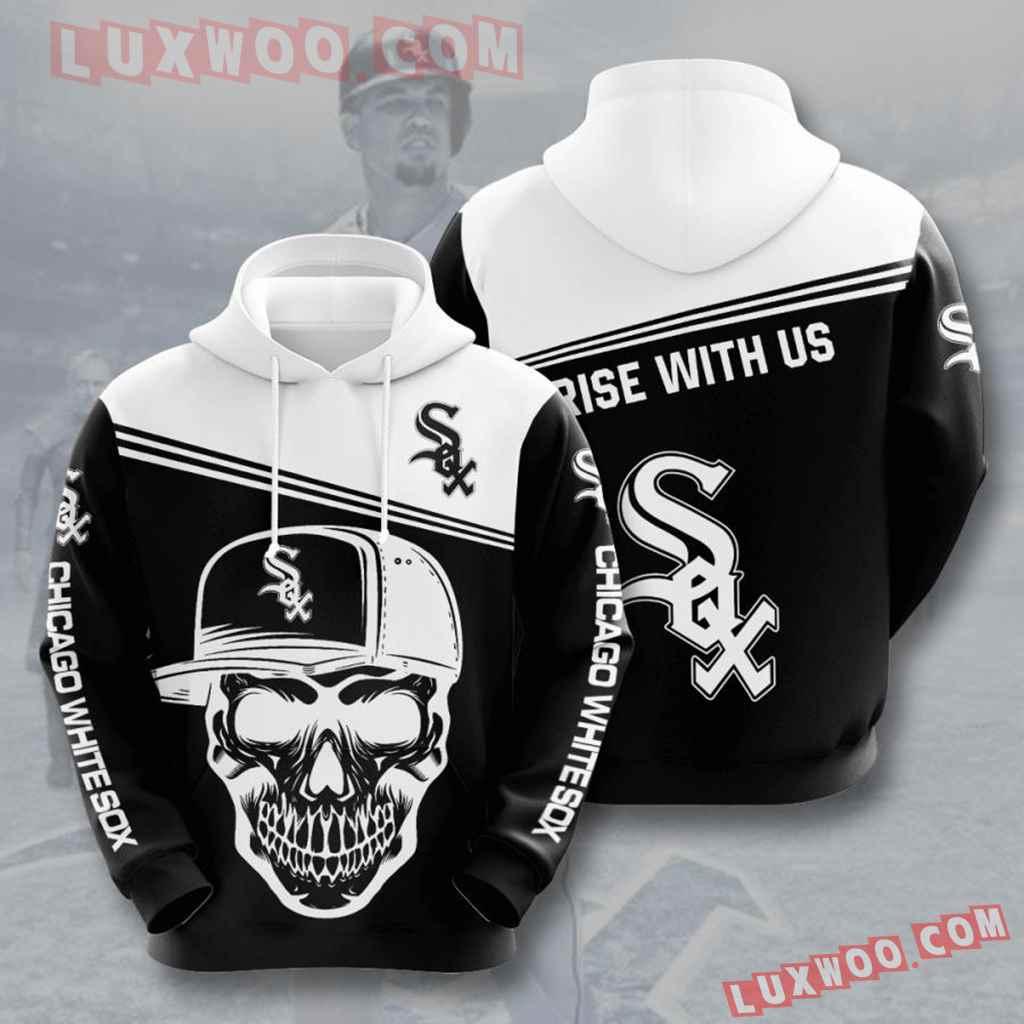 Mlb Chicago White Sox 3d Hoodies Printed Zip Hoodies Sweatshirt Jacket V5