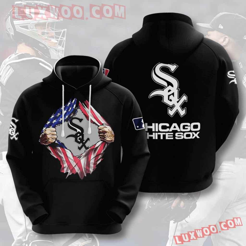 Mlb Chicago White Sox 3d Hoodies Printed Zip Hoodies Sweatshirt Jacket V6