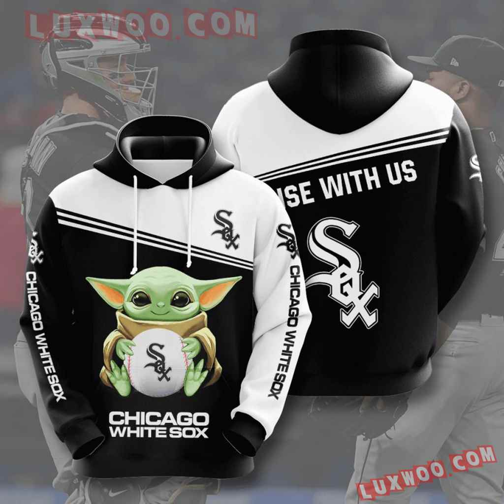 Mlb Chicago White Sox 3d Hoodies Printed Zip Hoodies Sweatshirt Jacket V9