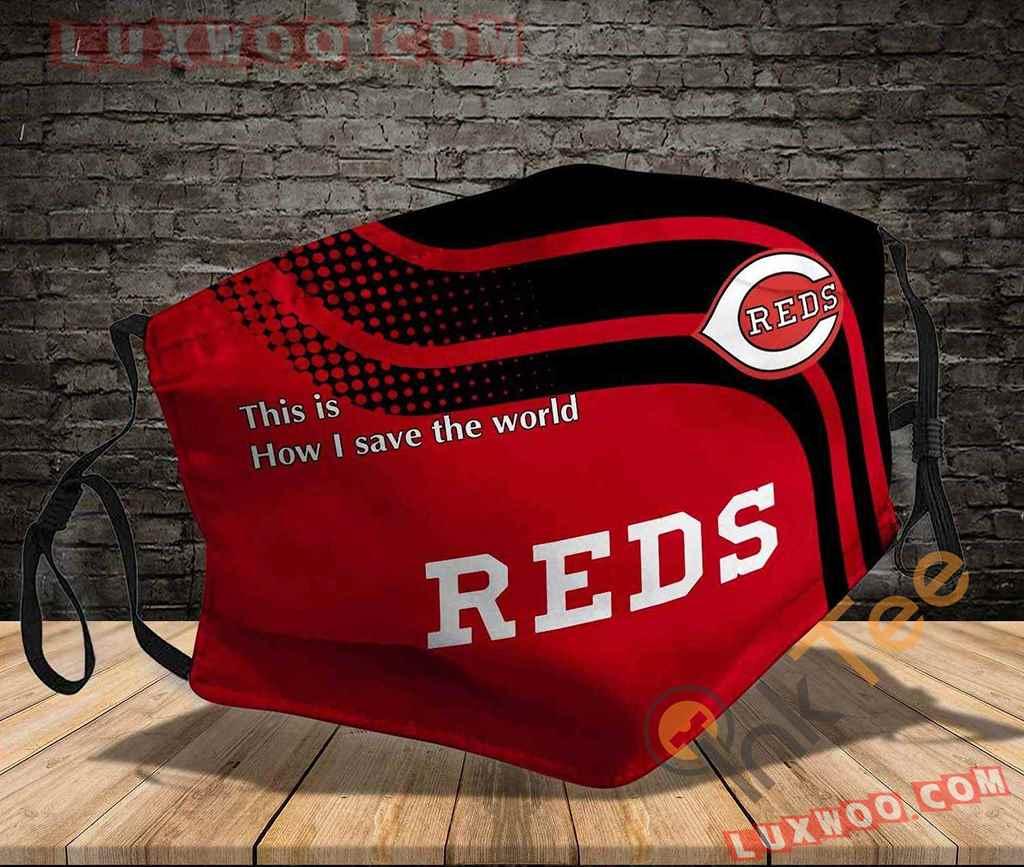 Mlb Cincinnati Reds 3d Face Mask V1