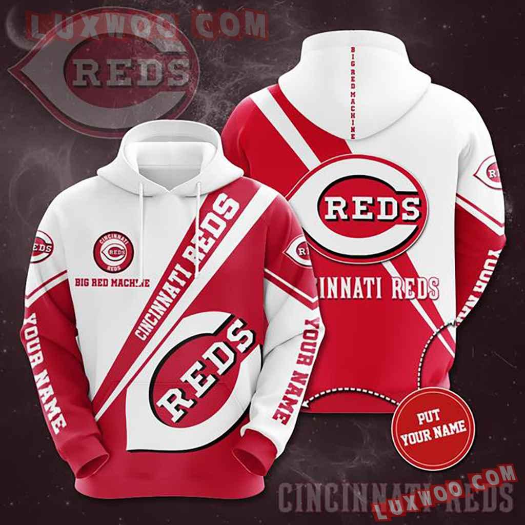 Mlb Cincinnati Reds 3d Hoodies Printed Zip Hoodies Sweatshirt Jacket V1
