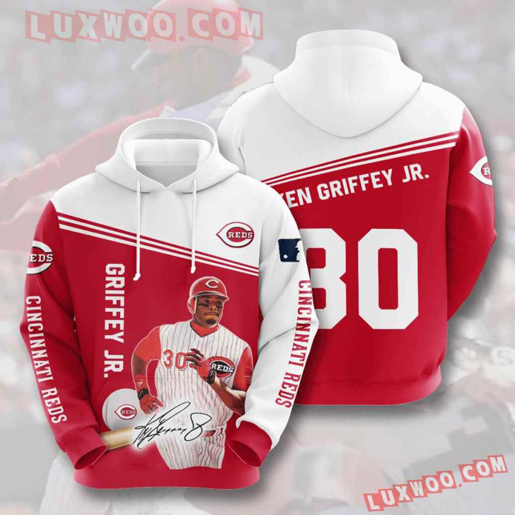 Mlb Cincinnati Reds 3d Hoodies Printed Zip Hoodies Sweatshirt Jacket V12