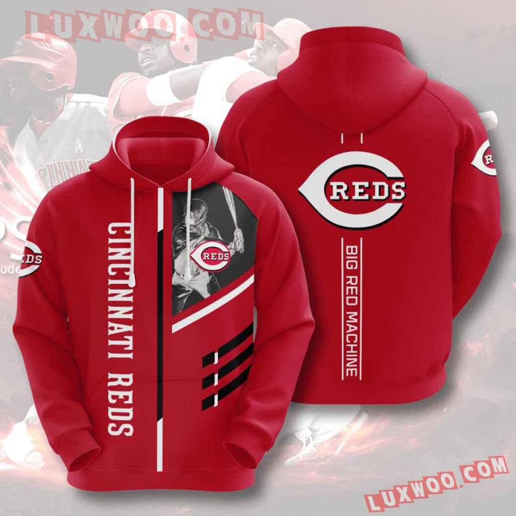 Mlb Cincinnati Reds 3d Hoodies Printed Zip Hoodies Sweatshirt Jacket V2