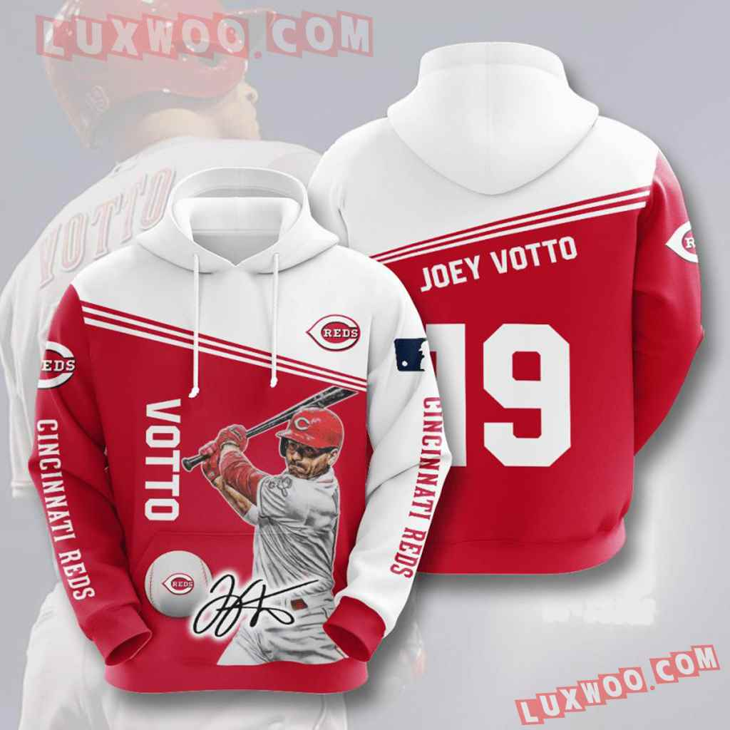 Mlb Cincinnati Reds 3d Hoodies Printed Zip Hoodies Sweatshirt Jacket V3