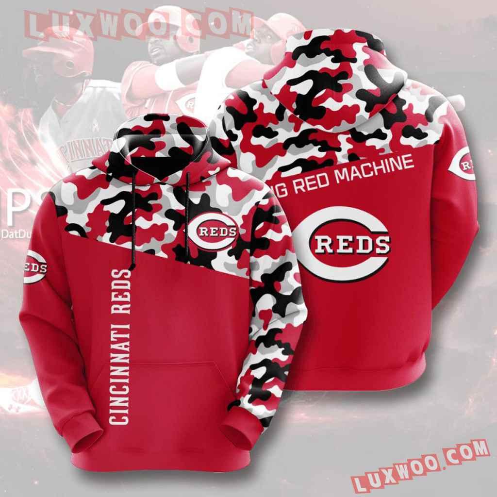 Mlb Cincinnati Reds 3d Hoodies Printed Zip Hoodies Sweatshirt Jacket V4