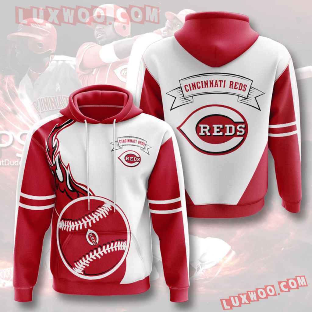 Mlb Cincinnati Reds 3d Hoodies Printed Zip Hoodies Sweatshirt Jacket V6