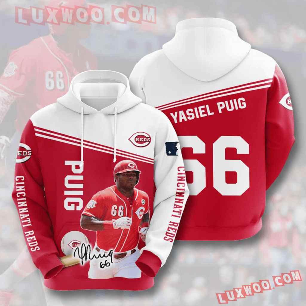 Mlb Cincinnati Reds 3d Hoodies Printed Zip Hoodies Sweatshirt Jacket V7