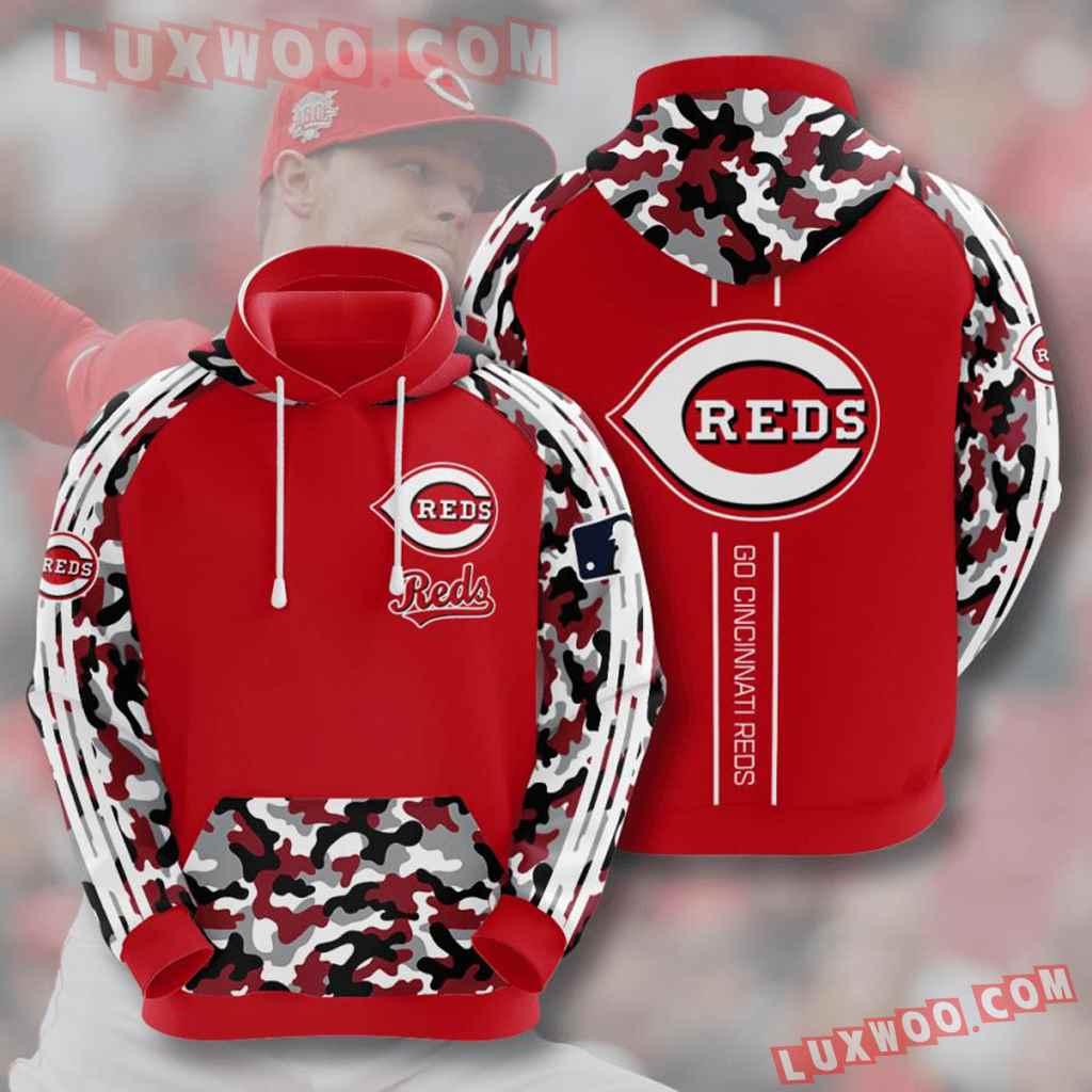 Mlb Cincinnati Reds 3d Hoodies Printed Zip Hoodies Sweatshirt Jacket V8