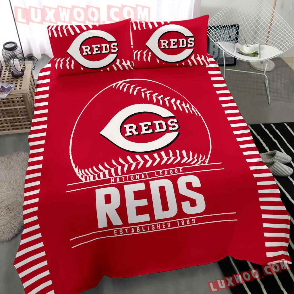 Mlb Cincinnati Reds 3d Quilt Bedding Set V1