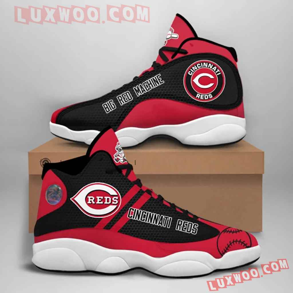 Mlb Cincinnati Reds Air Jordan 13 Custom Shoes Sneaker V2