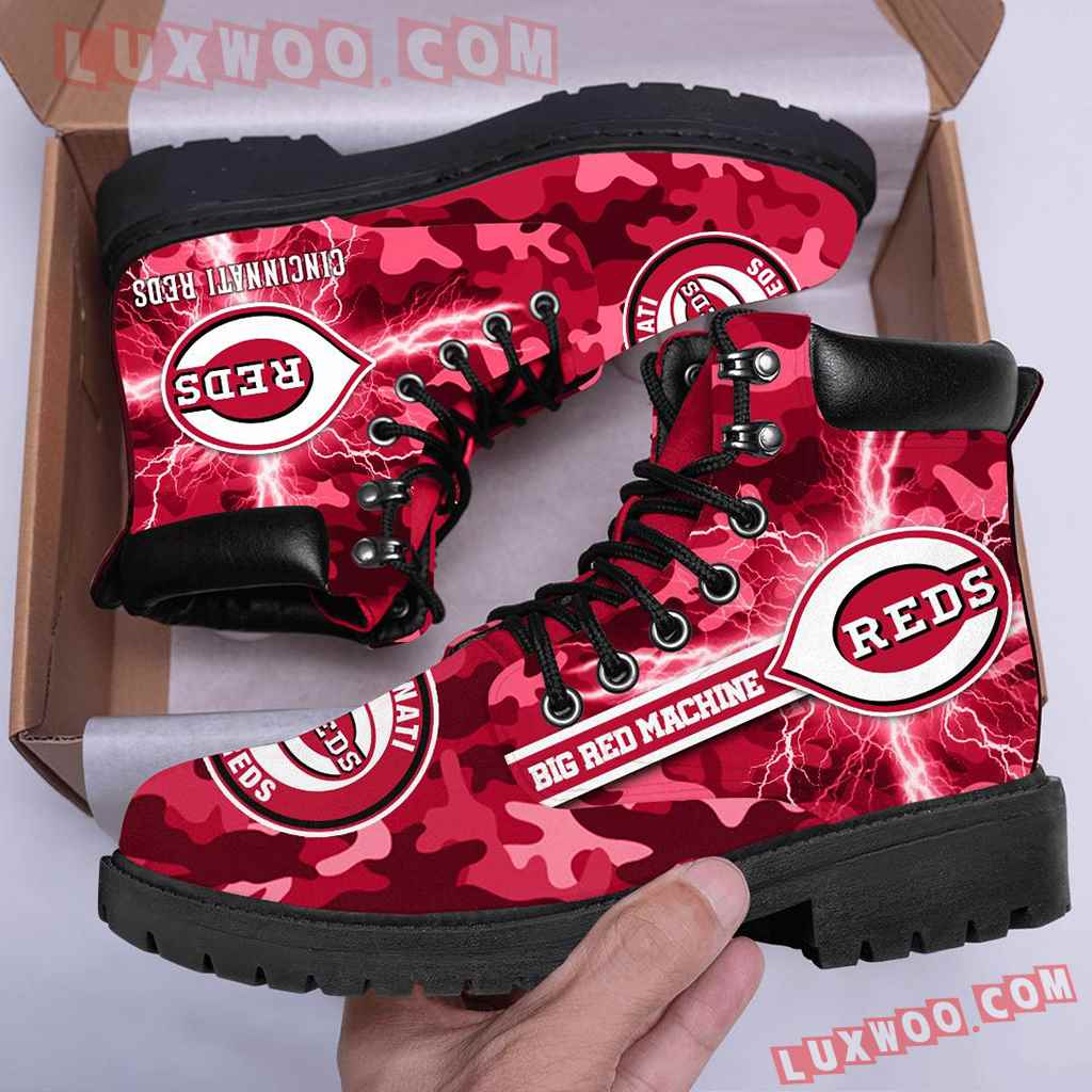 Mlb Cincinnati Reds Season Boots Shoes V1