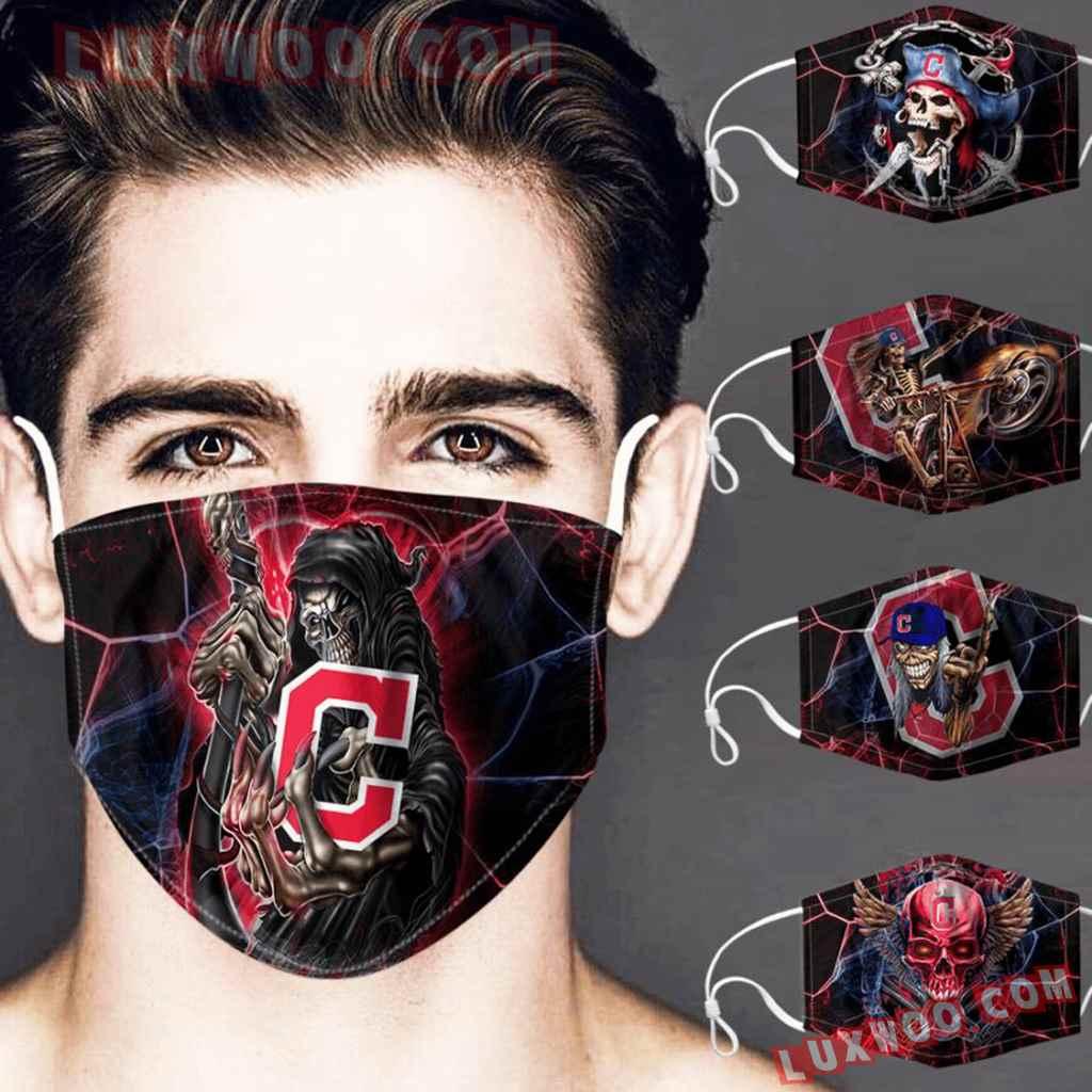 Mlb Cleveland Indians 3d Face Mask Combo 5 V1