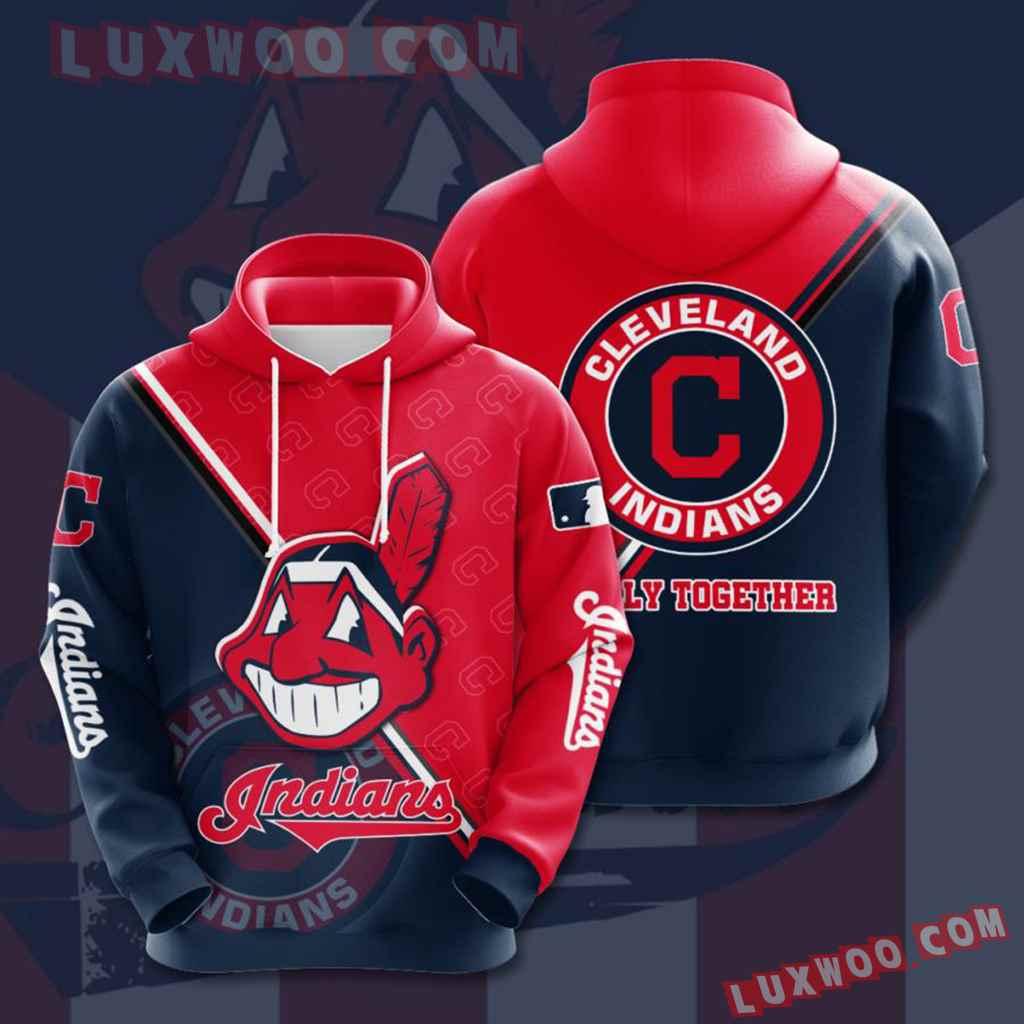 Mlb Cleveland Indians 3d Hoodies Printed Zip Hoodies Sweatshirt Jacket V2